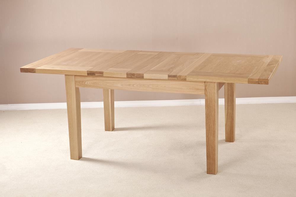 Milano Solid Oak Dining Table - 132cm-198.4cm Small Rectangular Extending with 2 Leaf
