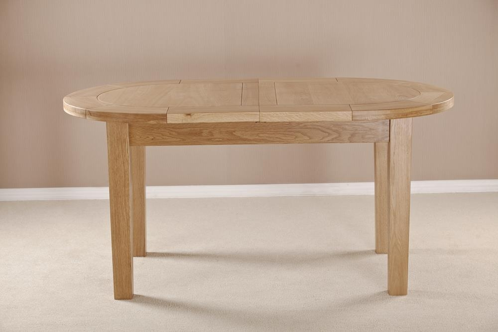 Milano Solid Oak D-End Oval Extending Dining Table - 161.5cm-211.5cm