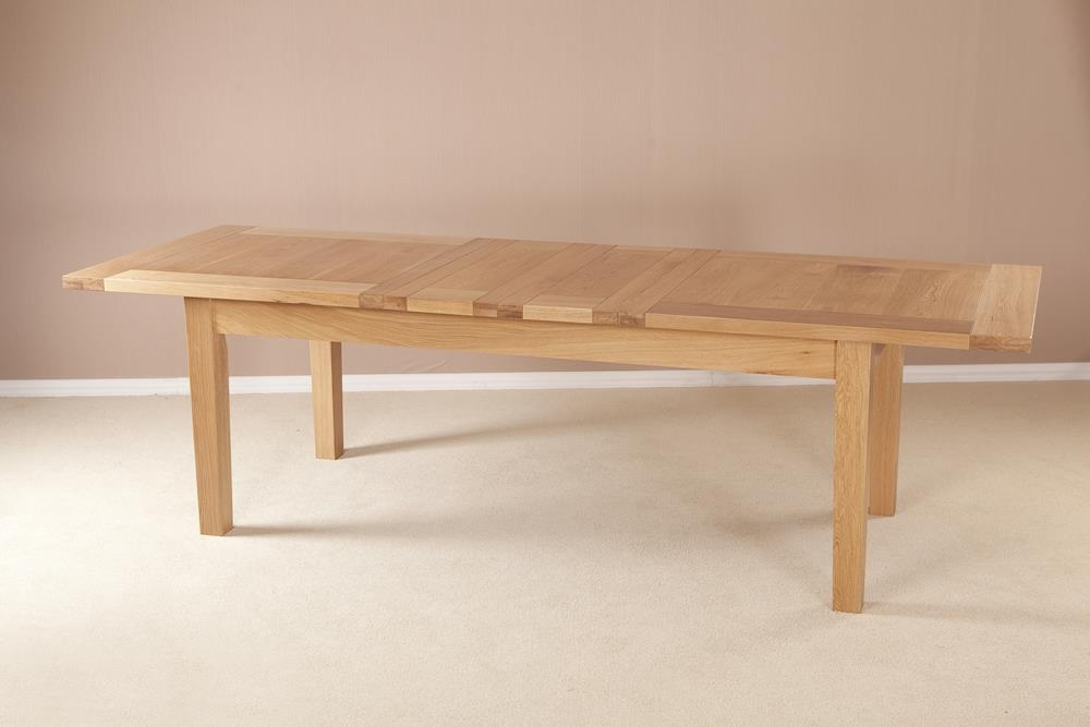 Milano Oak Large Extending Dining Table