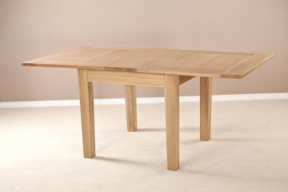 Milano Solid Oak Flip Top Square Extending Dining Table - 91.5cm-183cm