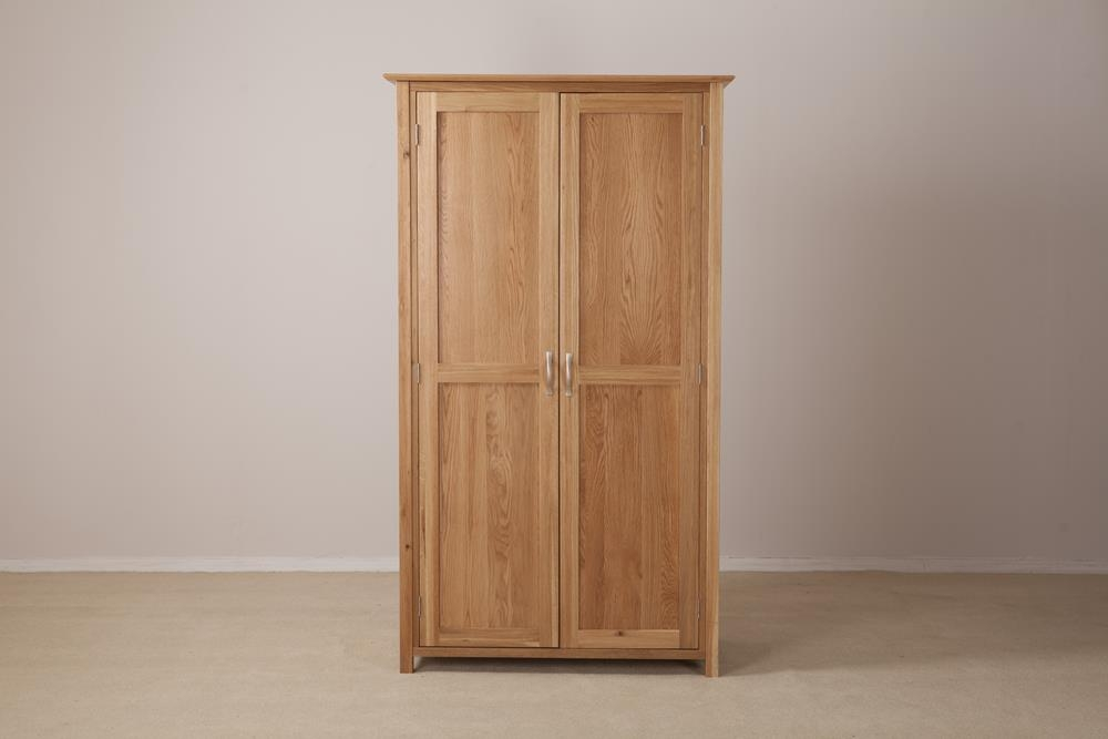Milano Solid Oak Ladies Double Wardrobe - 2 Door