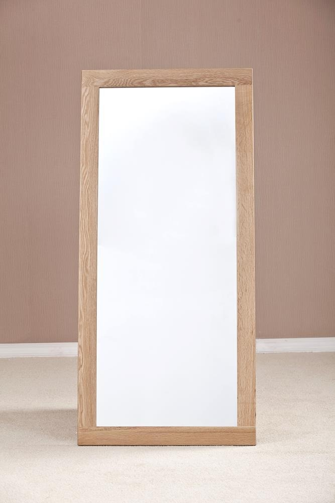 Milano Solid Oak Wall Mirror - 130 x 60