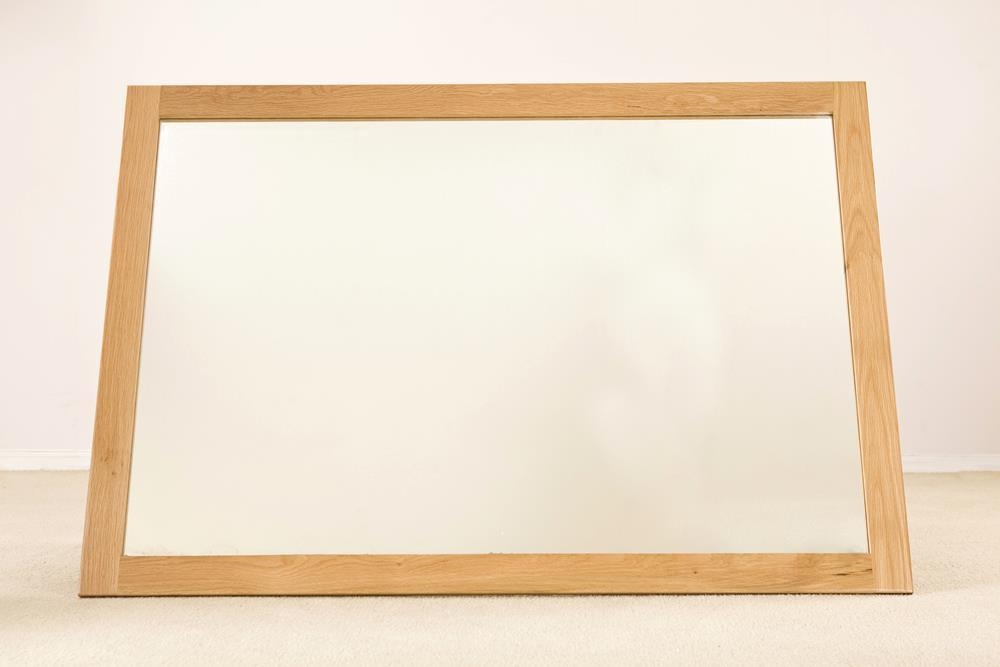 Milano Oak Rectangular Large Wall Mirror - 130cm x 90cm