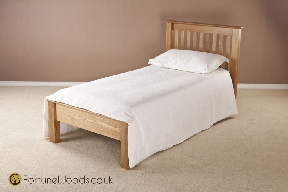 Milano Oak Bed - 3ft Single Low Foot End