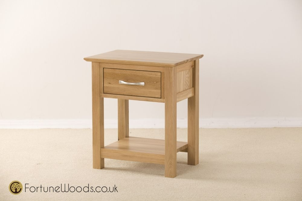 Milano Oak Bedside Table - 1 Drawer