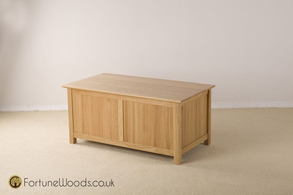 Milano Oak Blanket Box - Large
