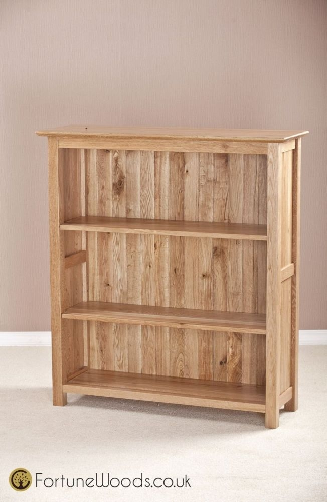 Milano Oak Bookcase - 3ft Wide