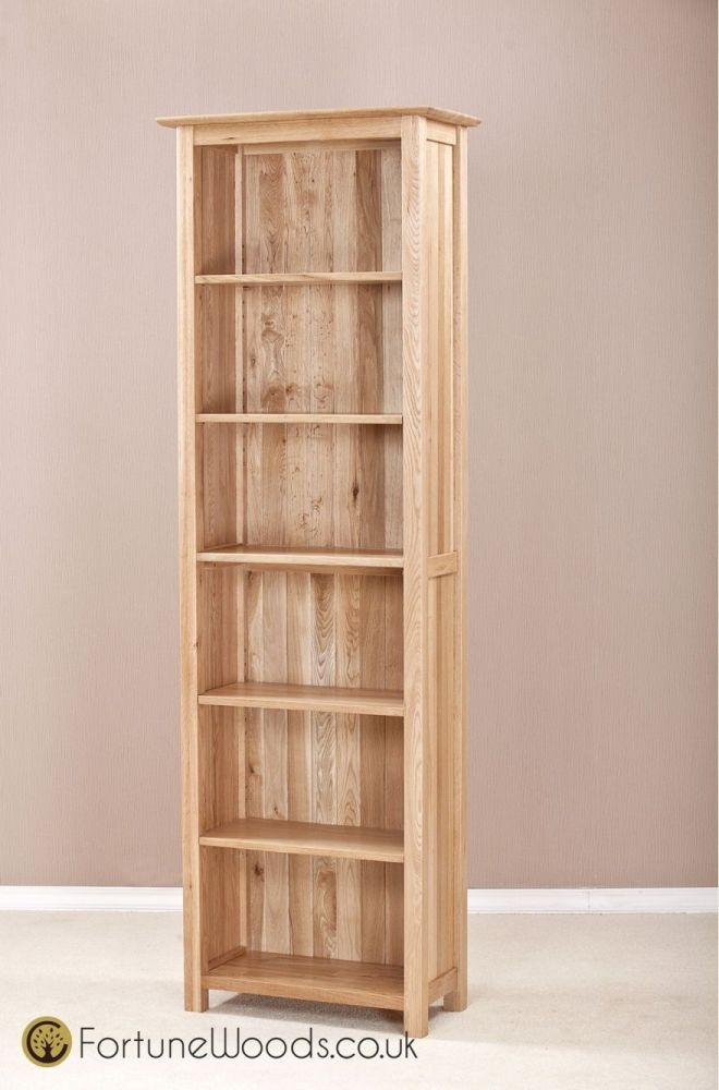 Milano Oak Bookcase - 6ft Narrow