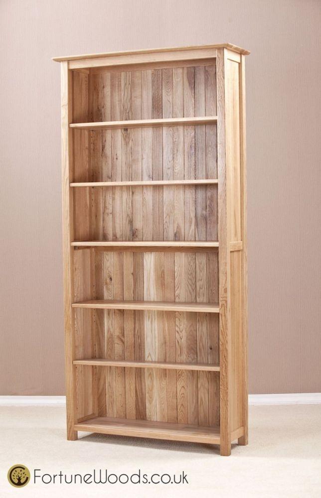 Milano Oak Bookcase - 6ft Wide