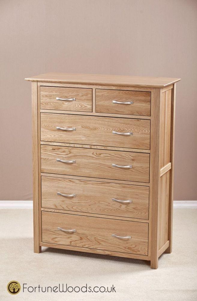 Milano Oak Chest of Drawer - 4+2 Drawer