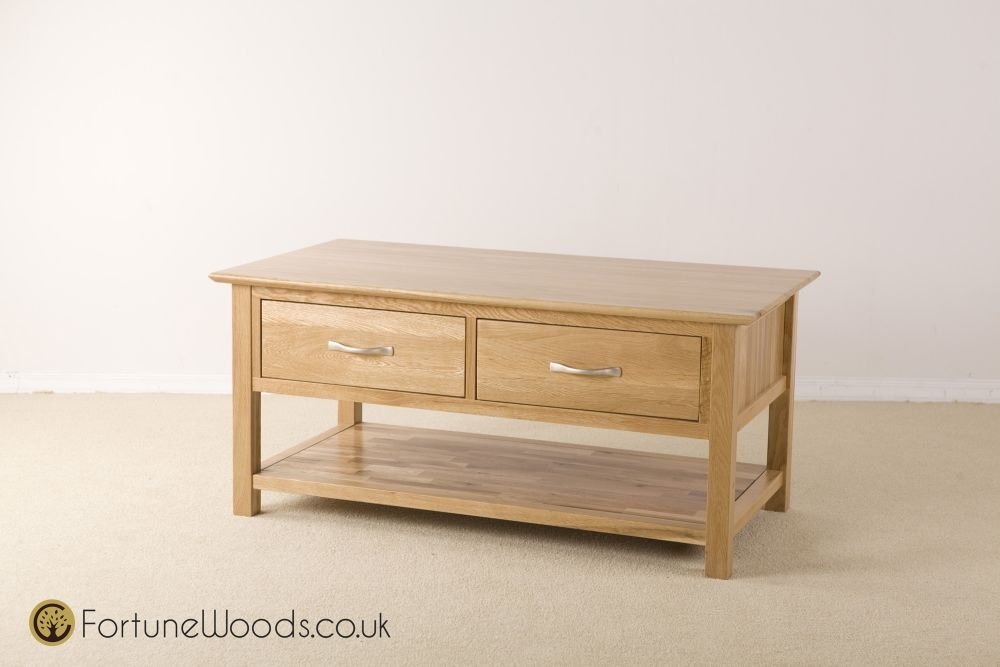 Milano Oak Coffee Table with Drawer