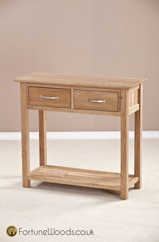 Milano Oak Console Table with 2 Drawer