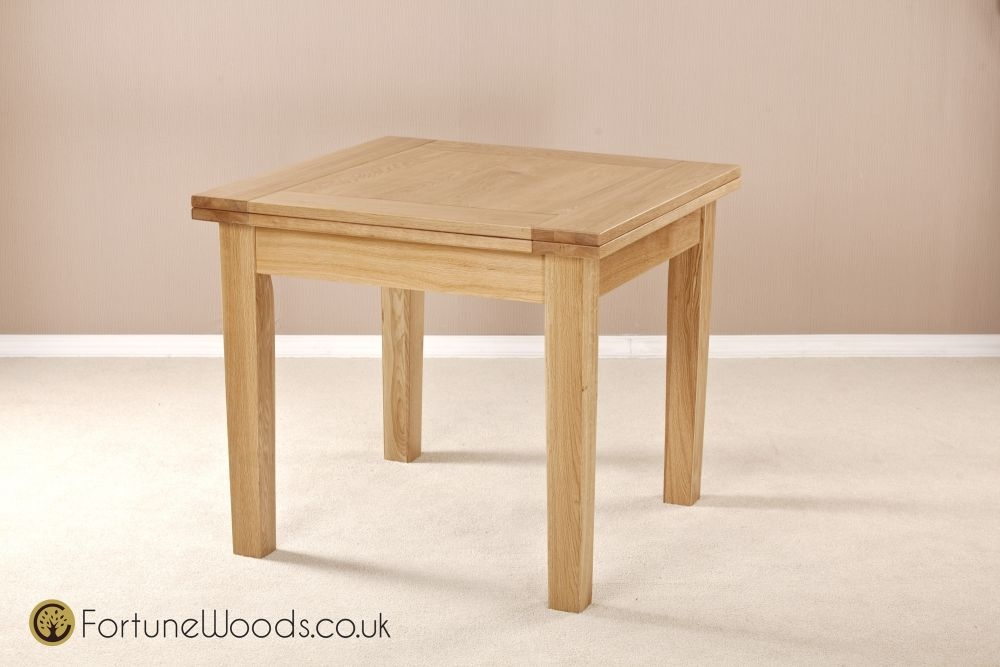 Milano Oak Dining Table - 3ft Flip Top Extending
