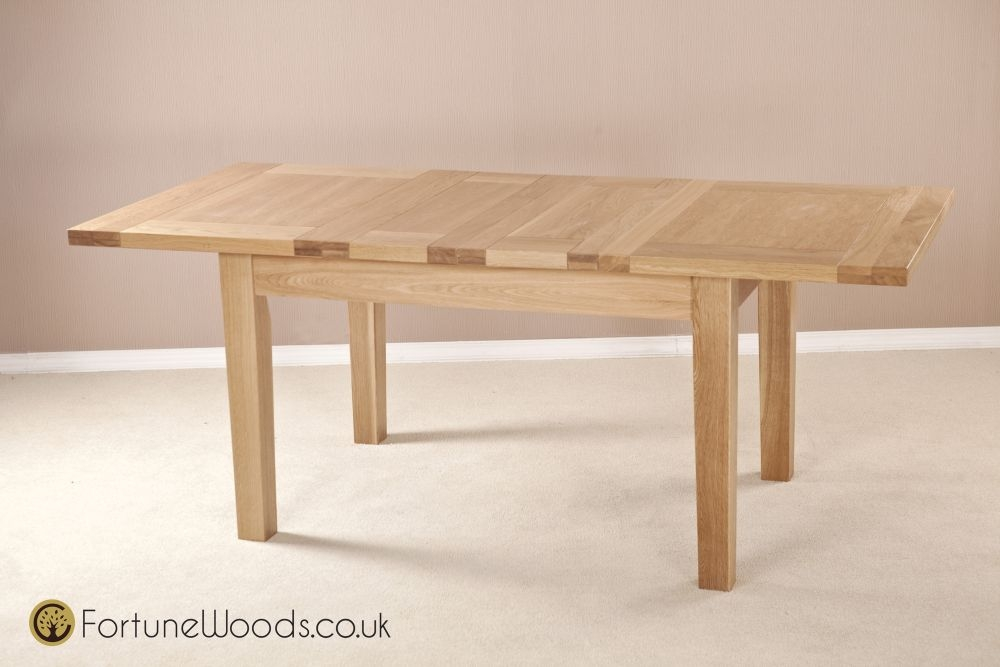 Milano Oak Dining Table - 4ft 6in Extending with 2 Leaf