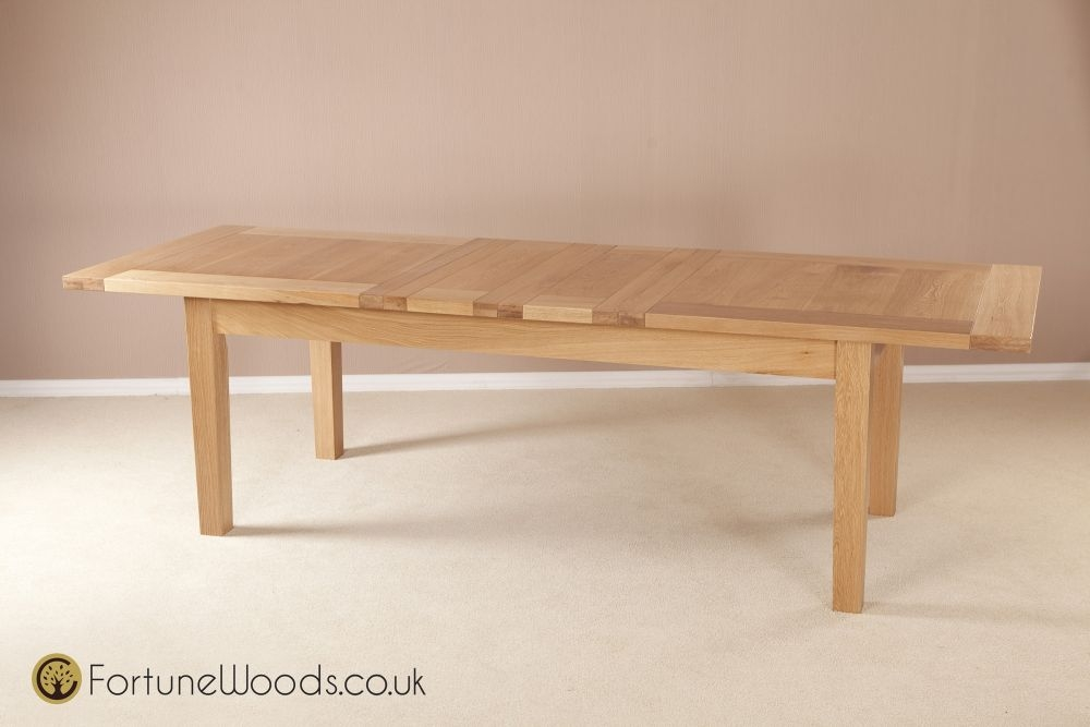 Milano Oak Dining Table - 6ft 8in Extending with 2 Leaf