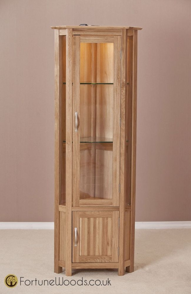 Milano Oak Display Cabinet - Corner