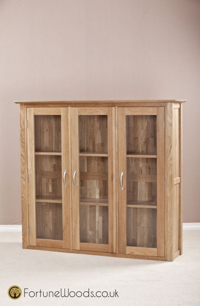 Milano Oak Dresser Top - 4ft 6in Glass Door