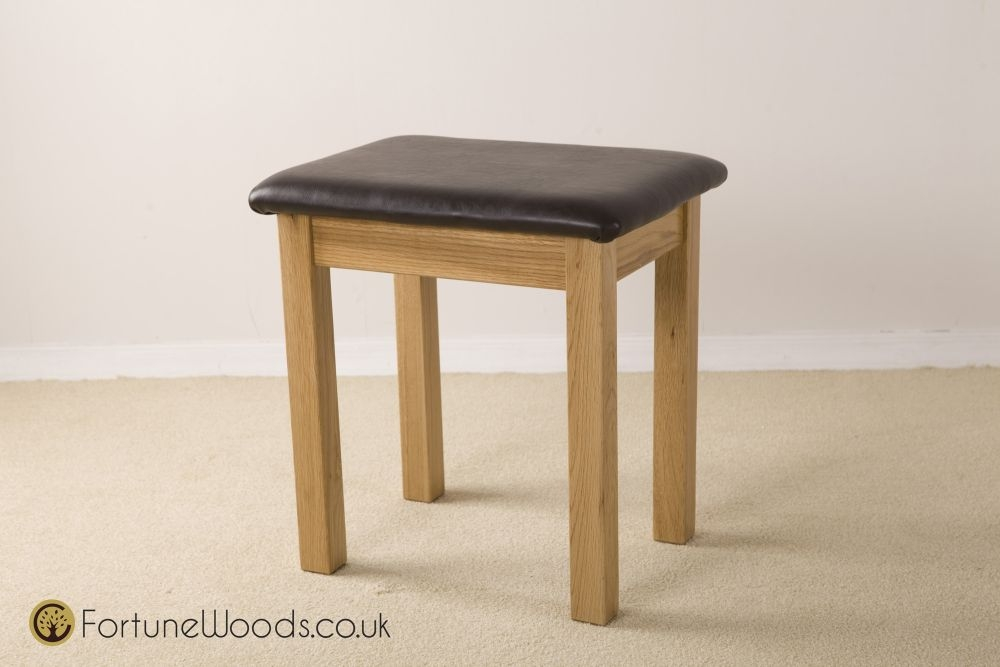 Milano Oak Dressing Stool