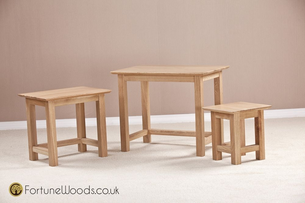 Milano Oak Nest of Tables - Small