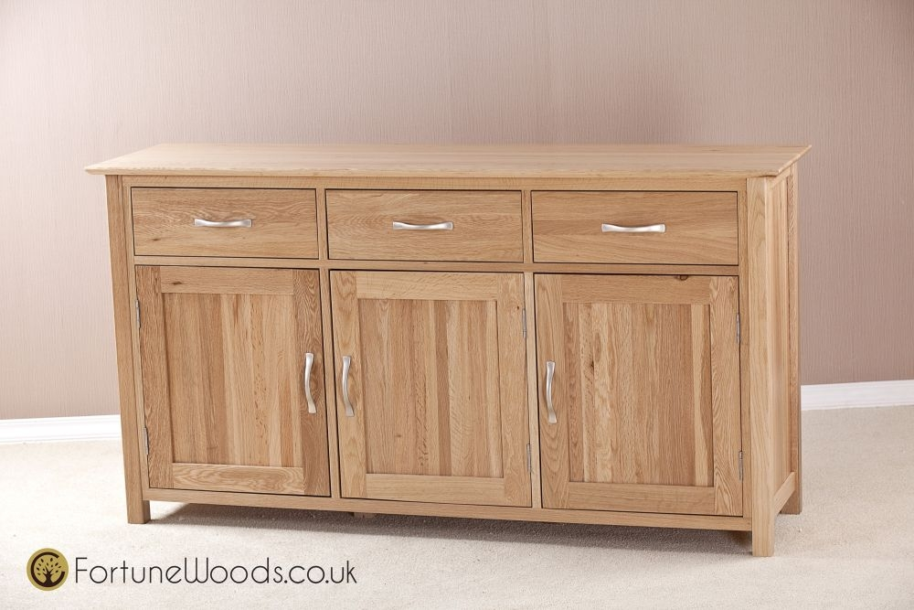 Milano Solid Oak Sideboard - Large