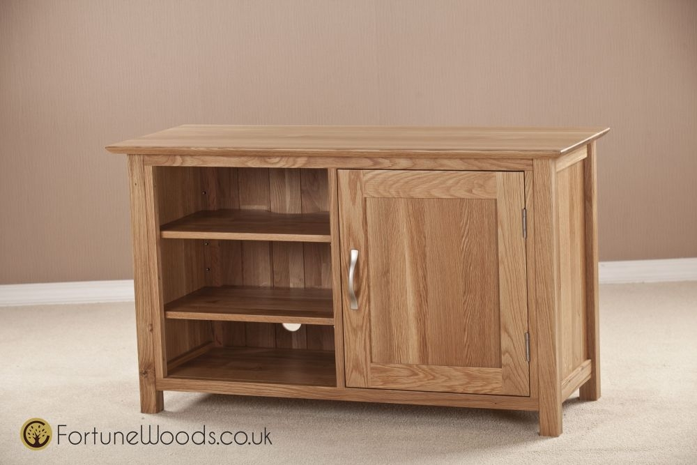 Milano Solid Oak TV Unit - Standard