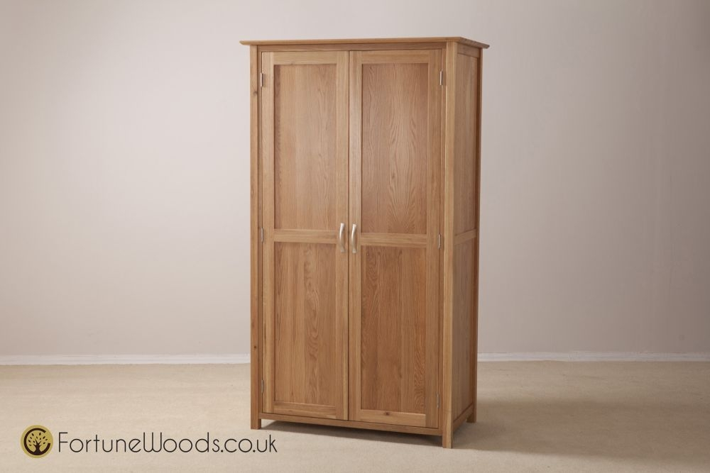 Milano Oak Wardrobe - 2 Door Ladies