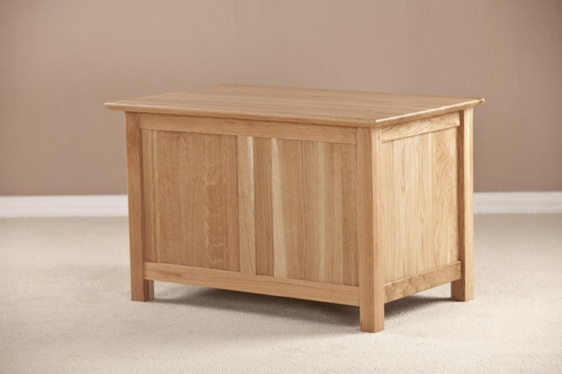 Milano Oak Blanket Box