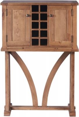 Modesto Oak Tall Wine Rack