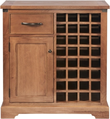 Modesto Oak Wine Cabinet