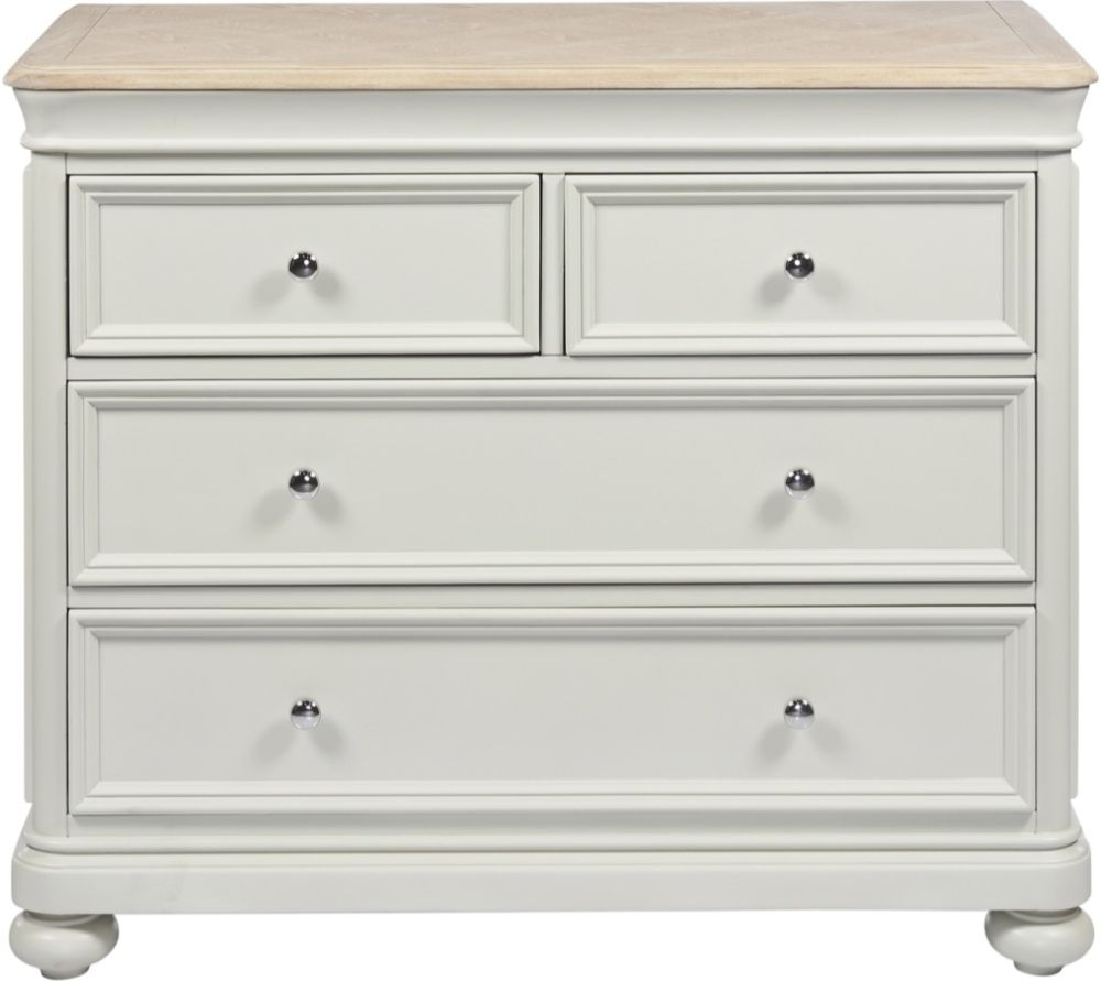Palmdale Oak 2+2 Drawer Chest - Oak and Grey