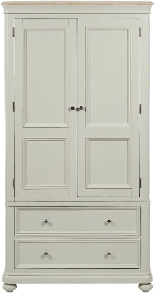 Palmdale Oak 2 Door 2 Drawer Wardrobe - Oak and Grey