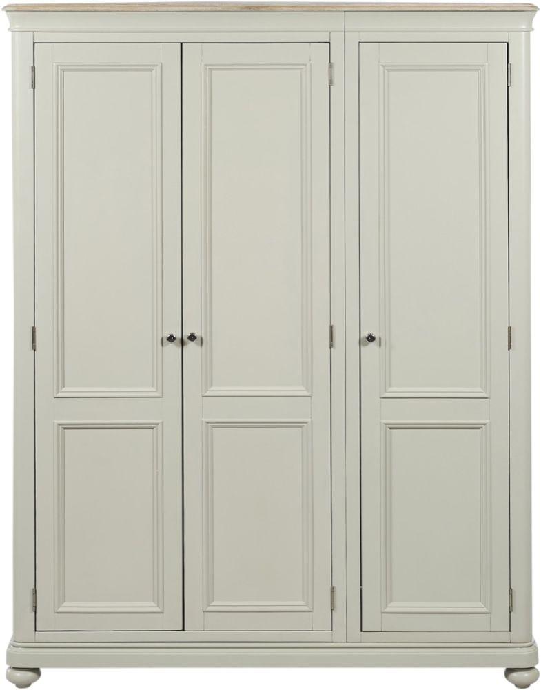 Palmdale Oak 3 Door Wardrobe - Oak and Grey