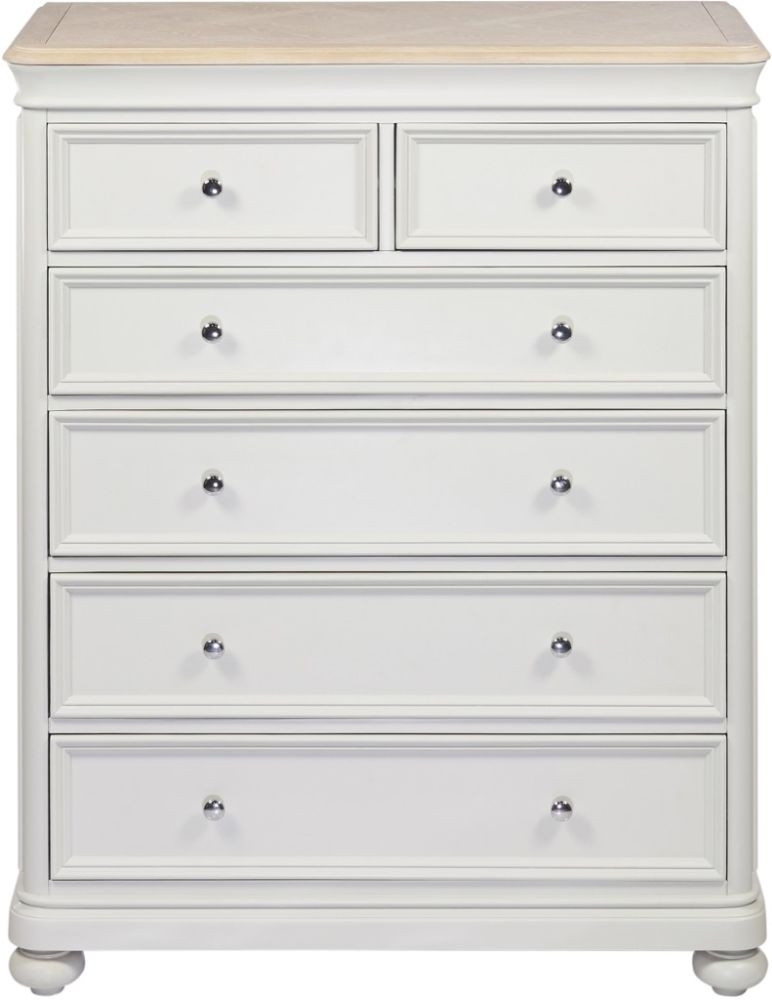 Palmdale Oak 4+2 Drawer Chest - Oak and Grey