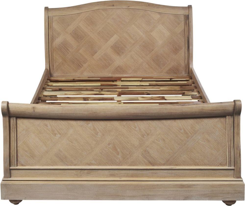 Palmdale Oak Sleigh Bed