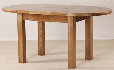Rustic Oak Dining Table - Small Extending