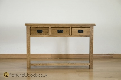 Rustic Oak Large Console Table