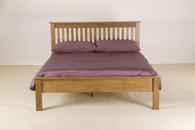 Rustic Oak Low Foot End Bed