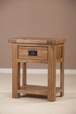 Rustic Oak Bedside Table