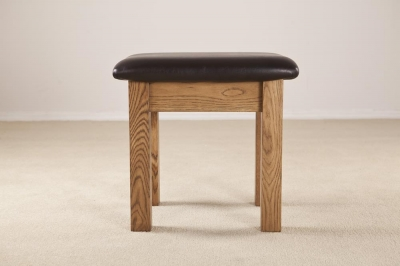 Rustic Oak Dressing Stool