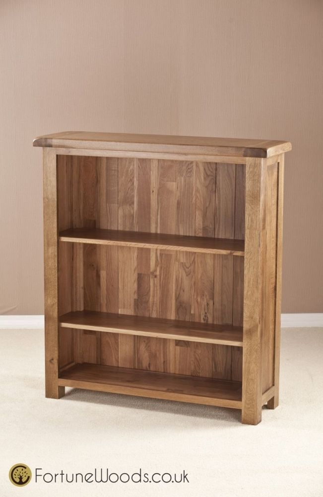 Rustic Oak Bookcase - 3ft Wide