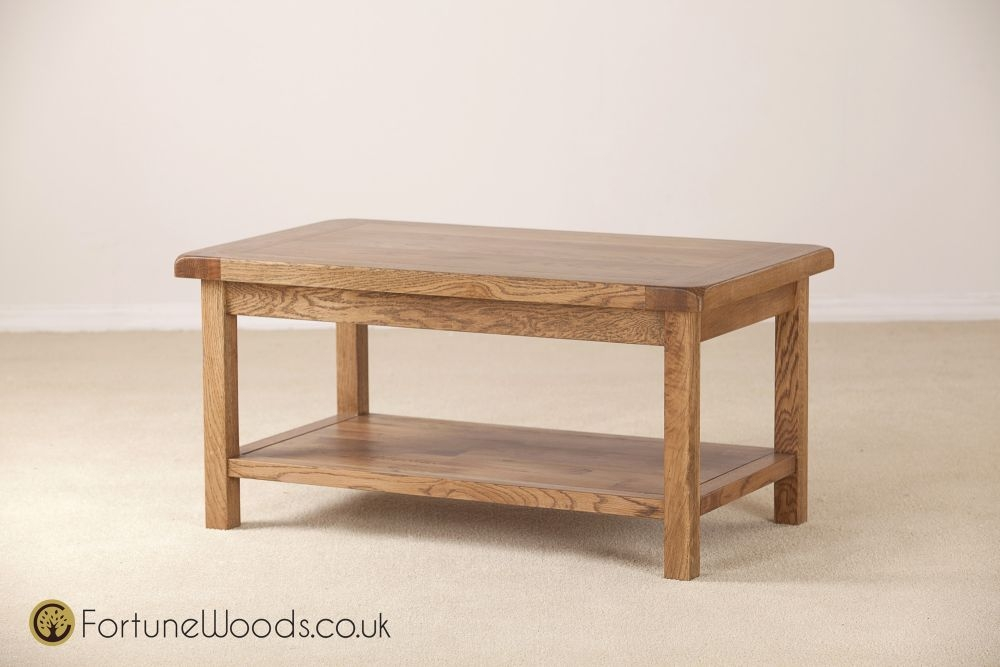 Rustic Oak Coffee Table - 915mm