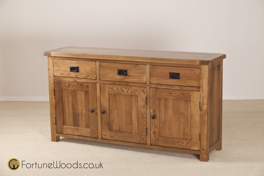 Rustic Oak Sideboard - Large