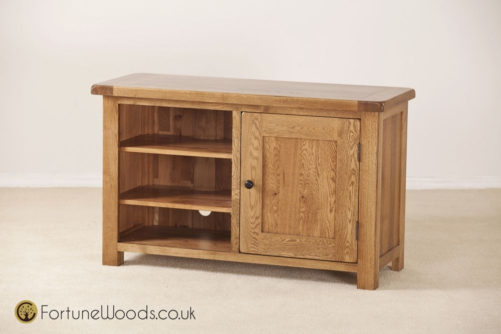 Rustic Oak TV Unit - Standard