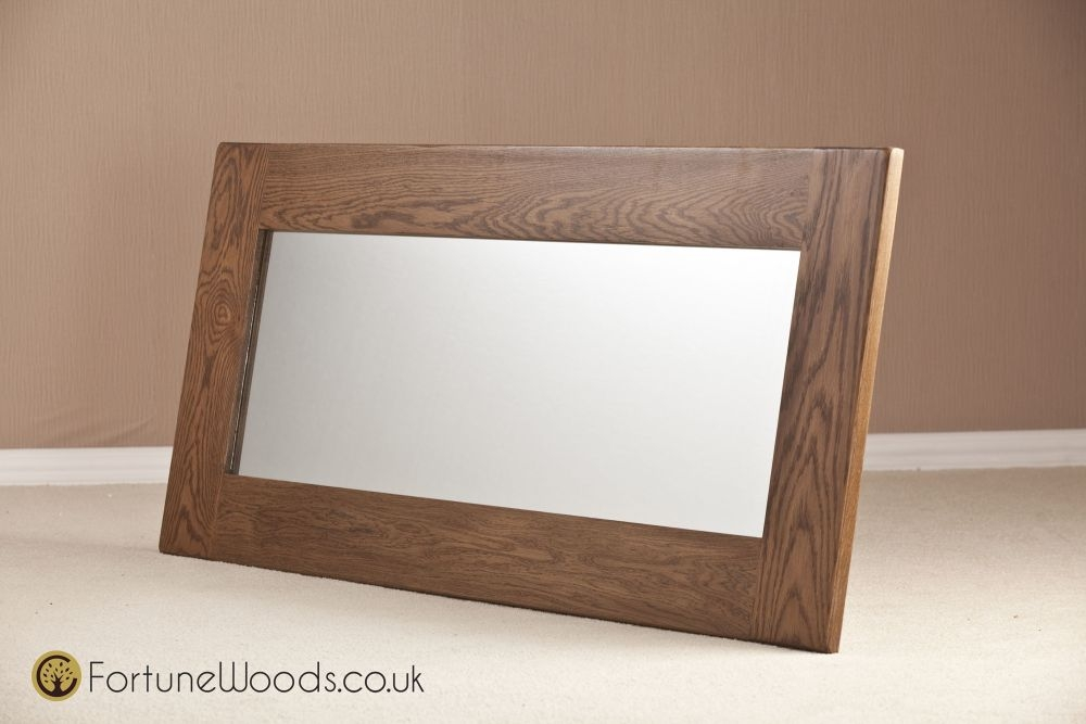 Rustic Oak Wall Mirror - 1300 X 600