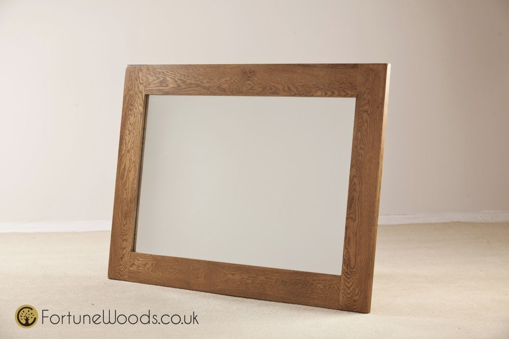 Rustic Oak Wall Mirror - 1300 X 900