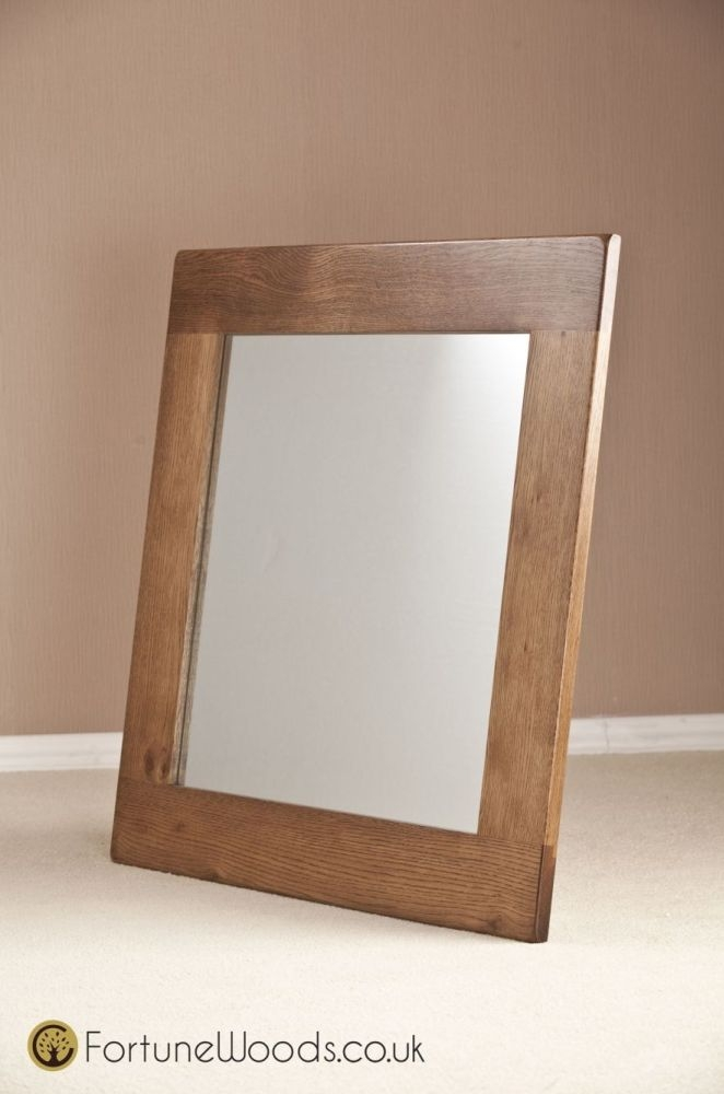 Rustic Oak Wall Mirror - 900 X 900