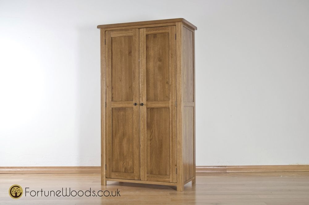Rustic Oak Wardrobe - 2 Door Ladies