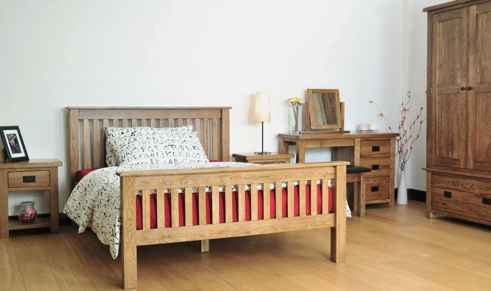 Rustic Solid Oak Bedroom Set
