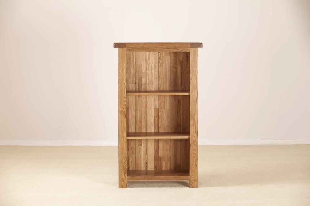 Rustic Solid Oak Narrow 3ft Bookcase