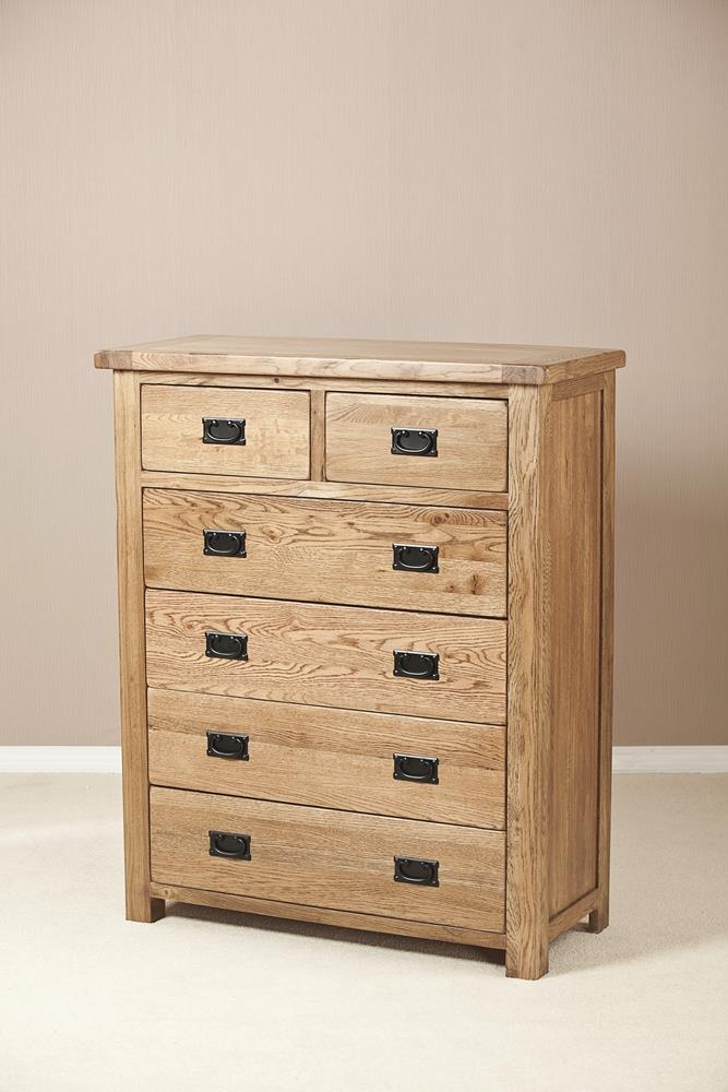 Rustic Solid Oak 4+2 Drawer Chest